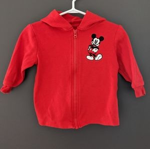 Disney embroidered Mickey Mouse zip up hoodie